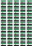 Extremadura Flag Stickers - 65 per sheet